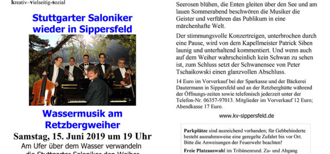 Stuttgarter Saloniker – Samstag 15. Juni 2019